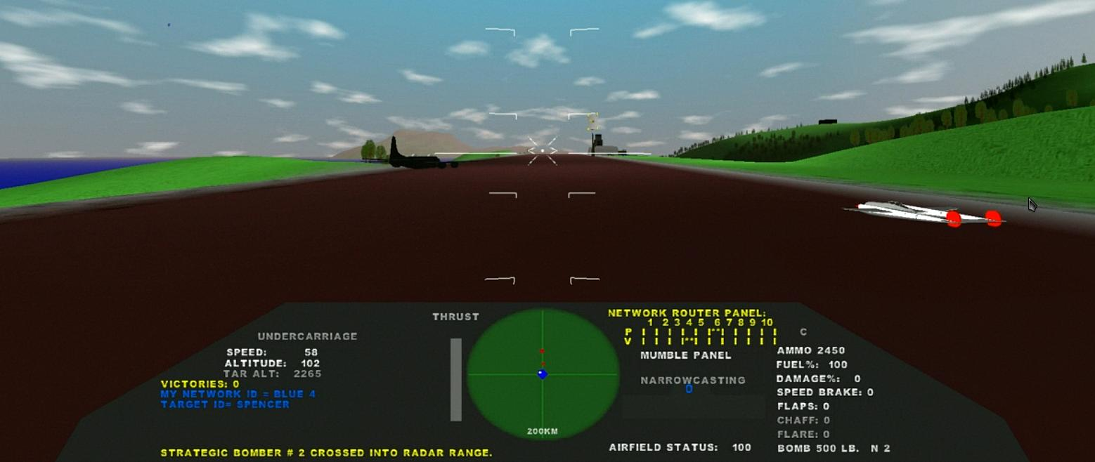 Introducting LINUX AIR COMBAT free flight simulator